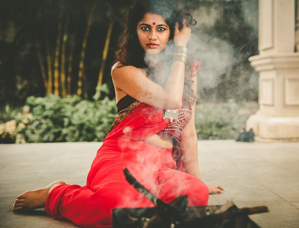 Draupadi, fireborn mythic fashion pinkpeppercorn